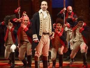Lin-Manuel Miranda in Hamilton the New Musical