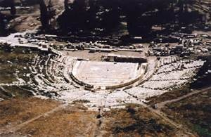 The Theatre of Dionysus where the first Golden Age began.