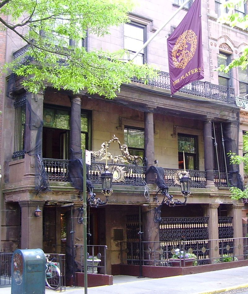 Exterior of The Players Club in New York City.  Photo taken in 2010.